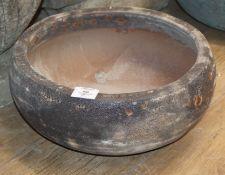 A garden bowl planter W.38cm