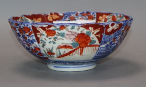 An Imari bowl diameter 18cm
