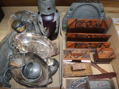 A quantity of Art Nouveau and Art and Crafts metalware