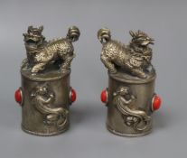 A pair of Sino-Tibetan lion-dog seals