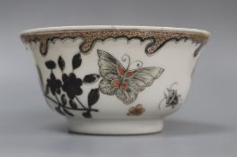 A Chinese rouge-de fer bowl, Yongzheng period height 6cm