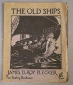 Flecker, James Elroy - The Old Ships, qto, paper wraps, The Poetry Bookshop, London 1915, Hodgson,
