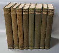 Spenser, Edmund - The Faerie Queene, 8 vols, one of 386, quarter calf, qto, uncut, Shakespeare