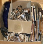 A quantity of silver plated ware