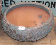 A garden bowl planter W.39cm