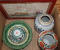 A quantity of assorted Oriental ceramics, carved wood and metalware