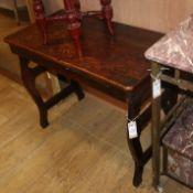 A 19th century Continental oak side table W.84cm