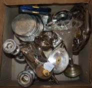 A collection of silver plate wares