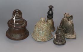 Five Indonesian antique bells