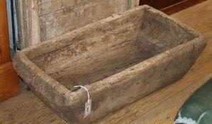 A large hardwood trough W.78cm