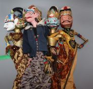 Four traditional Indonesian hand puppets