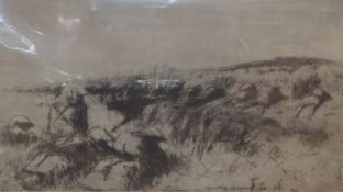 James McBey (1883-1959), 'The Moonlight Attack, Jelil', etching with plate tone, 1920, signed in ink