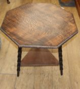 An Arts and Crafts occasional table W.62cm