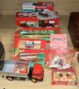 A collection of Britains boxed sets, farm animals etc., including Ford Tractor TW35, 9321, Country