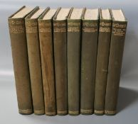 Spenser, Edmund - The Faerie Queene, 8 vols, one of 386, quarter calf, qto, uncut, Shakespeare