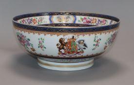 A Samson of Paris armorial bowl diameter 23cm