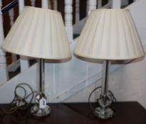 A pair of Art Deco glass table lamps