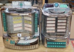 Two Wurlitzer selector boxes