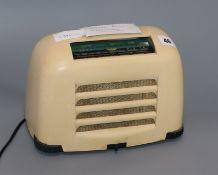 A 'Toaster' Bakelite radio