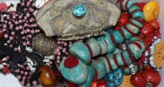 A collection of ethnic costume jewellery.