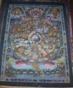 Two Nepalese or Tibetan thangkas