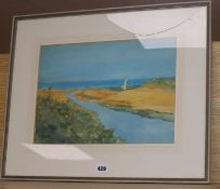 John Hassall (1868-1948) watercolour, The Second Swatch, Walton on N... , signed and dated 1920,