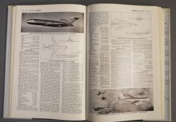 Jane's - Jane's All the World's Aircraft, 34 vols, all with dj's, except the years 1989-1994, qto,