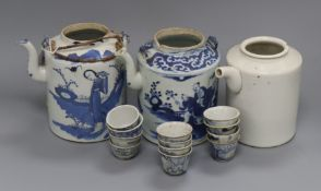 A group of teapots and twelve rice wine cups