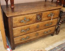 An 18th century French fruitwood commode W.118cm