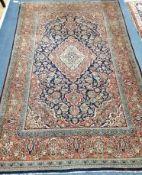 A Kashan rug 204 x 133cm