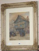 Charles Heeley Bast..., watercolour, Vieilles Maisons Plas St Michel, Quimpule, signed and dated '