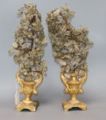 A pair of altar pieces height 43cm