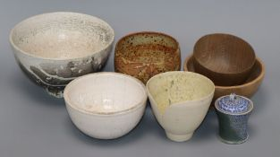 A group of Studio pottery bowls