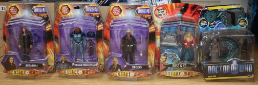 Doctor Who - Character Options - poseable action figures; five from series 4, four audio books etc.,