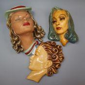Vicky Lester by Jon Douglas - lady face mask and two similar face masks