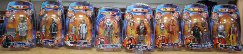 Doctor Who - Character Options - poseable action figures; seventeen from Doctor Who Classic Series