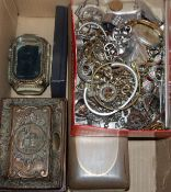 Assorted items including costume jewellery, boxes, watches etc.