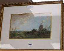 William Tatham Winter (1855-1921), watercolour, Coulsdon Mill 1911, signed, 21 x 35cm