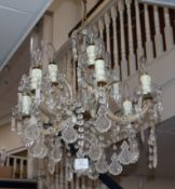 A six branch chandelier