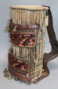 An African Yoruba, Nigeria drum height 52cm