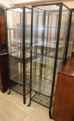A pair of shop display cabinets H.180cm