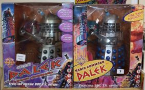 Doctor Who - Product Enterprise - two radio command Daleks; based on the classic TV series, 2002 &