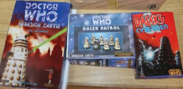Doctor Who - Harlequin Miniatures - collection of diecast pewter figures; including Invasion Earth