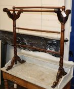 A Victorian towel airer