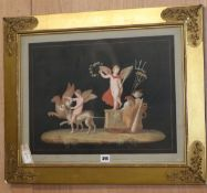 Italian School (late 19th century), a set of three gouache drawings of classical subjects, overall