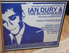 An Ian Drury and The Blockheads poster 76 x 101cm