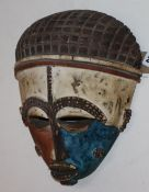 An African softwood mask