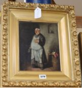 Dobell, oil on canvas, 'The Wine Taster', signed and dated '56, 25 x 20cm