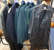 Six military style jackets and two leather coats from Tosca opera