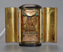 A Japanese lacquer and wood portable shrine, Meiji period
